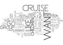 What Cruise Is Right For You Word Cloud Royalty Free Stock Image
