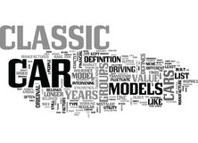 What Defines A Classic Car Word Cloud Royalty Free Stock Photo