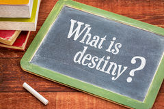 What is destiny question on blackboard Stock Images