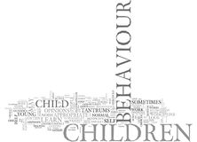 What Is Difficult Child Behaviour Word Cloud. WHAT IS DIFFICULT CHILD BEHAVIOUR TEXT WORD CLOUD CONCEPT stock illustration