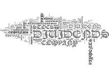 What Dividends Are And When They Re Issued Word Cloud. WHAT DIVIDENDS ARE AND WHEN THEY RE ISSUED TEXT WORD CLOUD CONCEPT Stock Photos