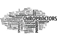 What Do Chiropractors Do Word Cloud Stock Images