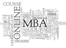 What Do I Need To Take An Online Mba Course Word Cloud. WHAT DO I NEED TO TAKE AN ONLINE MBA COURSE TEXT WORD CLOUD CONCEPT Royalty Free Stock Image