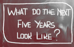 What Do The Next Five Years Look Like Concept. Concept Handwritten With Chalk On A Blackboard royalty free stock photo