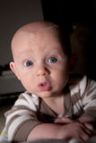 What do you do at night? Curious Baby Royalty Free Stock Photography