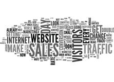 What Do You Do With Your Web Site Traffic Word Cloud Stock Image