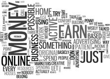 What Do You Have To Be To Succeed In A Home Based Business Word Cloud stock illustration
