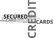 What Do You Mean By A Secured Credit Card Word Cloud Stock Photos
