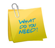 What do you need post illustration Stock Photo