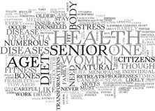 What Do You Need To Know About Senior S Health Word Cloud Royalty Free Stock Photos