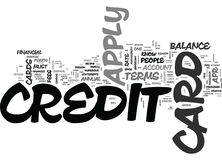 What Do You Need To Know To Apply For A Credit Card Word Cloud Stock Image