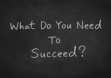 What do you need to succeed?. Success concept text on blackboard background vector illustration