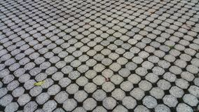 Background abstract from paving stones. Angled for depth. Optical illusion. royalty free stock image