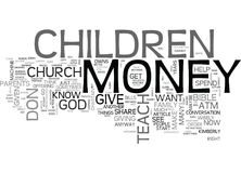 What Do You Teach Your Children About Money Word Cloud Royalty Free Stock Photos