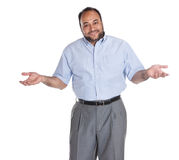 What do you want. Egyptian Arabic man, what do you want gesture, isolated on white royalty free stock image