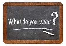 What do you want question Royalty Free Stock Photo
