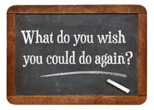 What do you wish you could do again? Royalty Free Stock Photo