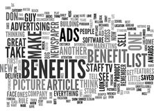 What Do Your Ads Say Word Cloud Royalty Free Stock Image