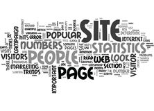 What Do Your Site Statistics Mean Anyway Word Cloud Royalty Free Stock Image