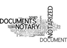 What Documents Cannot Be Notarizedword Cloud Stock Photo