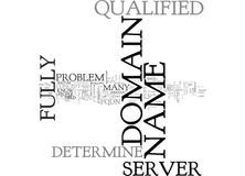 What Does It Mean Could Not Determine The Server S Fully Qualified Domain Name Word Cloud Royalty Free Stock Images