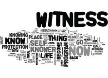 What Does It Mean To Be The Witness Word Cloud Royalty Free Stock Photo