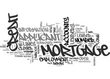 What Does A Mortgage Lender Look For On Your Credit Report Word Cloud Stock Image