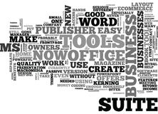 What Does Ms Office Suite Offer Business Owners Word Cloud Stock Photography