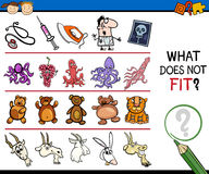 What does not fit cartoon game Stock Photography