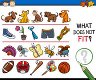 What does not fit game cartoon Stock Image