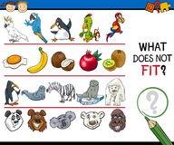 What does not fit game cartoon Royalty Free Stock Image