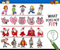 What does not fit game cartoon Royalty Free Stock Images