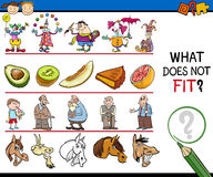 What does not fit game cartoon Royalty Free Stock Photo