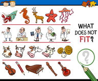 What does not fit game cartoon Stock Images