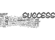 What Does Success Look Like To You Word Cloud Stock Photo