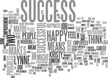 What Does Success Mean To Youword Cloud Stock Image