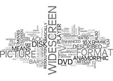 What Does The Term Anamorphic Mean On A Dvd Word Cloud Stock Photography
