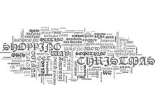 What Does The Way You Shop For Christmas Presents Say About You Word Cloud Stock Photography