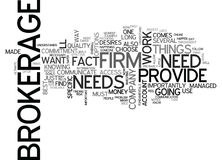 What Does Your Brokerage Do For Youword Cloud Stock Photo