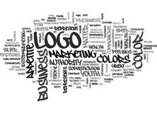 What Does Your Logo Color Say About Your Business Word Cloud Stock Photography