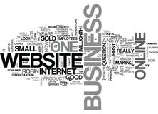 What Does Your Website Say About Your Businessword Cloud Stock Photography