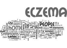 What Is An Effective Home Remedy For Eczema Word Cloud Stock Image