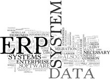 What Is Erp Word Cloud Stock Photography