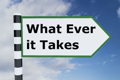 What Ever it Takes concept Stock Photography