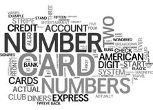 What Exactly Do The Numbers On The Front Of Your Credit Card Mean Word Cloud. WHAT EXACTLY DO THE NUMBERS ON THE FRONT OF YOUR CREDIT CARD MEAN TEXT WORD CLOUD Royalty Free Stock Photos