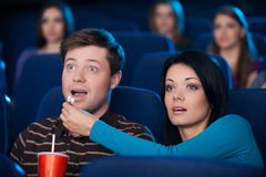 What an exciting movie! Stock Photography