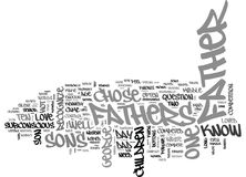 What Fathers Need To Know Word Cloud. WHAT FATHERS NEED TO KNOW TEXT WORD CLOUD CONCEPT Stock Photography