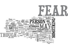 What Is Fear Word Cloud. WHAT IS FEAR TEXT WORD CLOUD CONCEPT vector illustration
