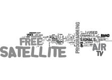What Is Free To Air Satellite Tv Word Cloud Stock Photography