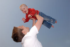 What a fun. Happy baby Stock Images